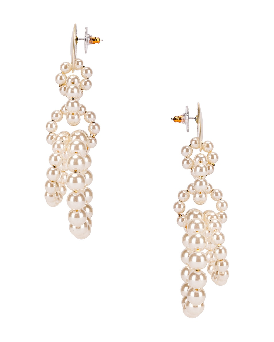 Image 2 of Lele Sadoughi Pearl Loop de Loop Earrings in Pearl