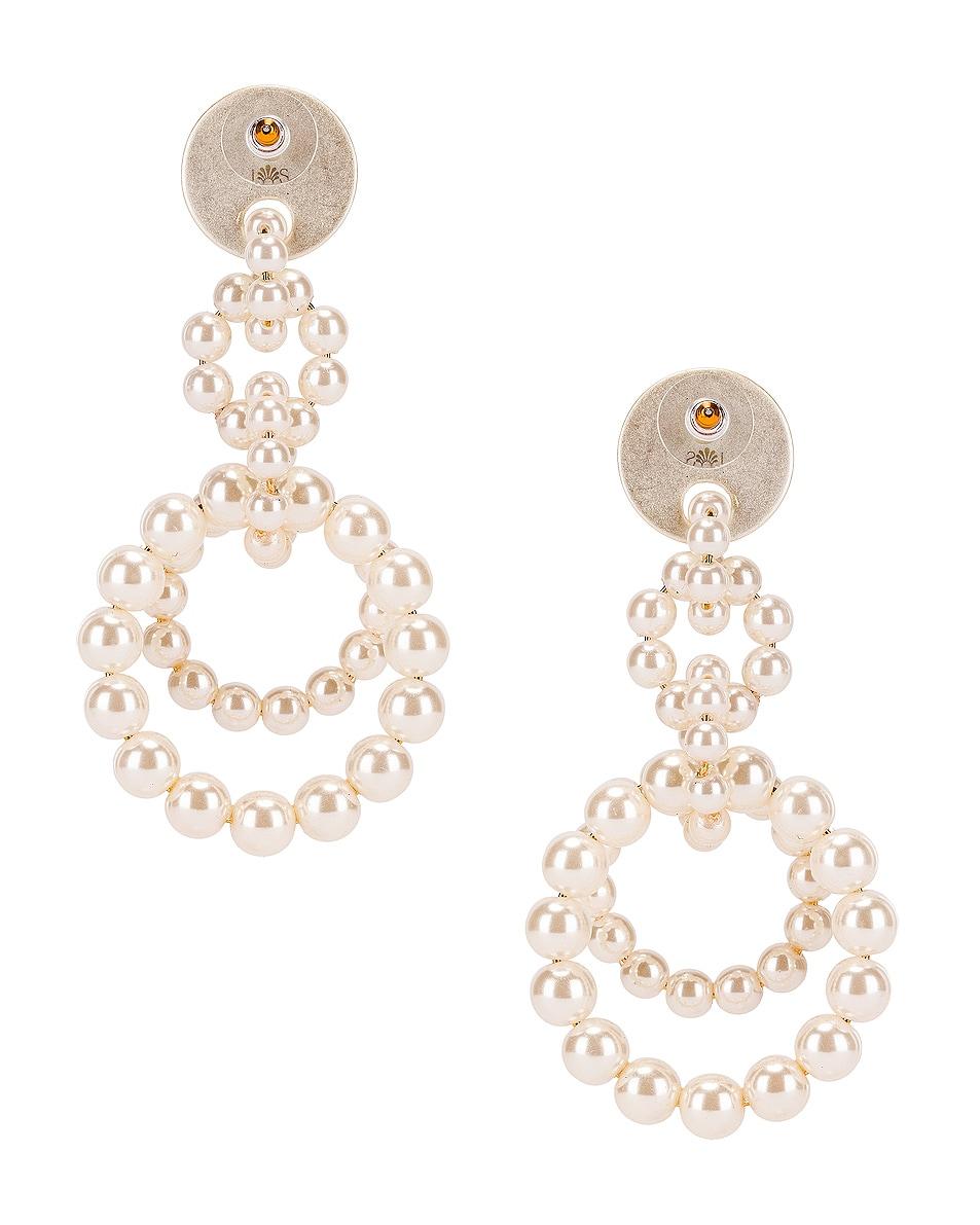 Image 3 of Lele Sadoughi Pearl Loop de Loop Earrings in Pearl