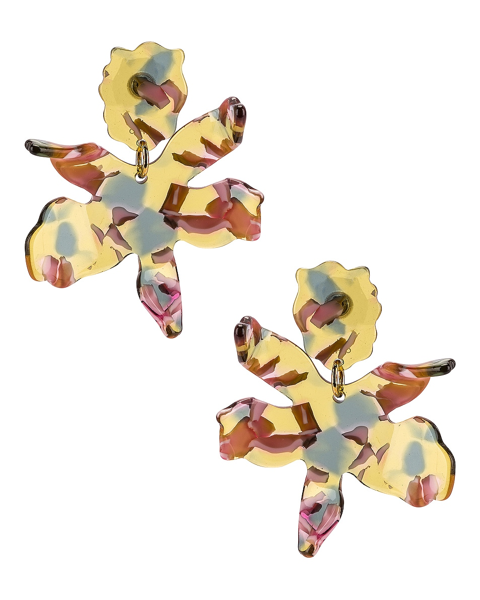 Image 1 of Lele Sadoughi Small Lily Earrings in Yellow Multi