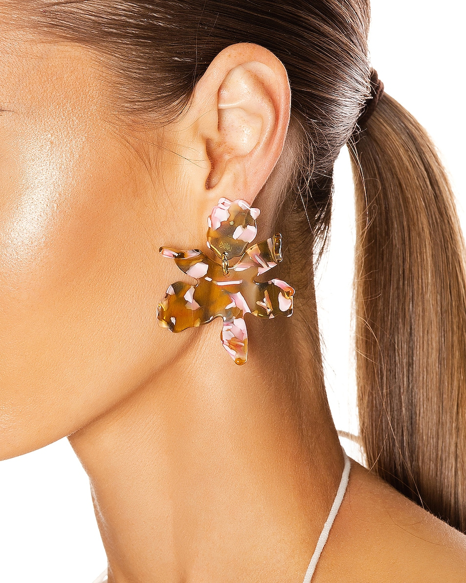 Image 2 of Lele Sadoughi Small Lily Earrings in Yellow Multi