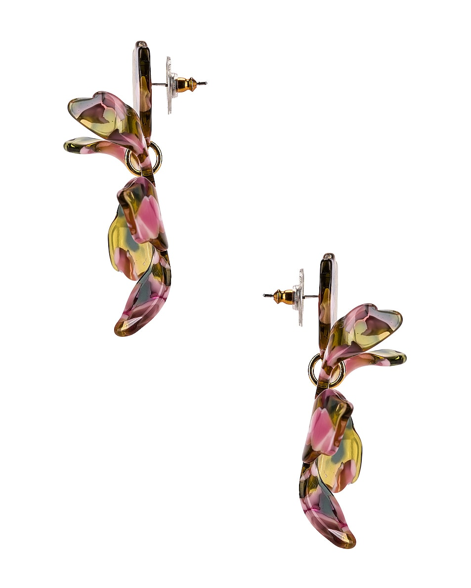 Image 3 of Lele Sadoughi Small Lily Earrings in Yellow Multi
