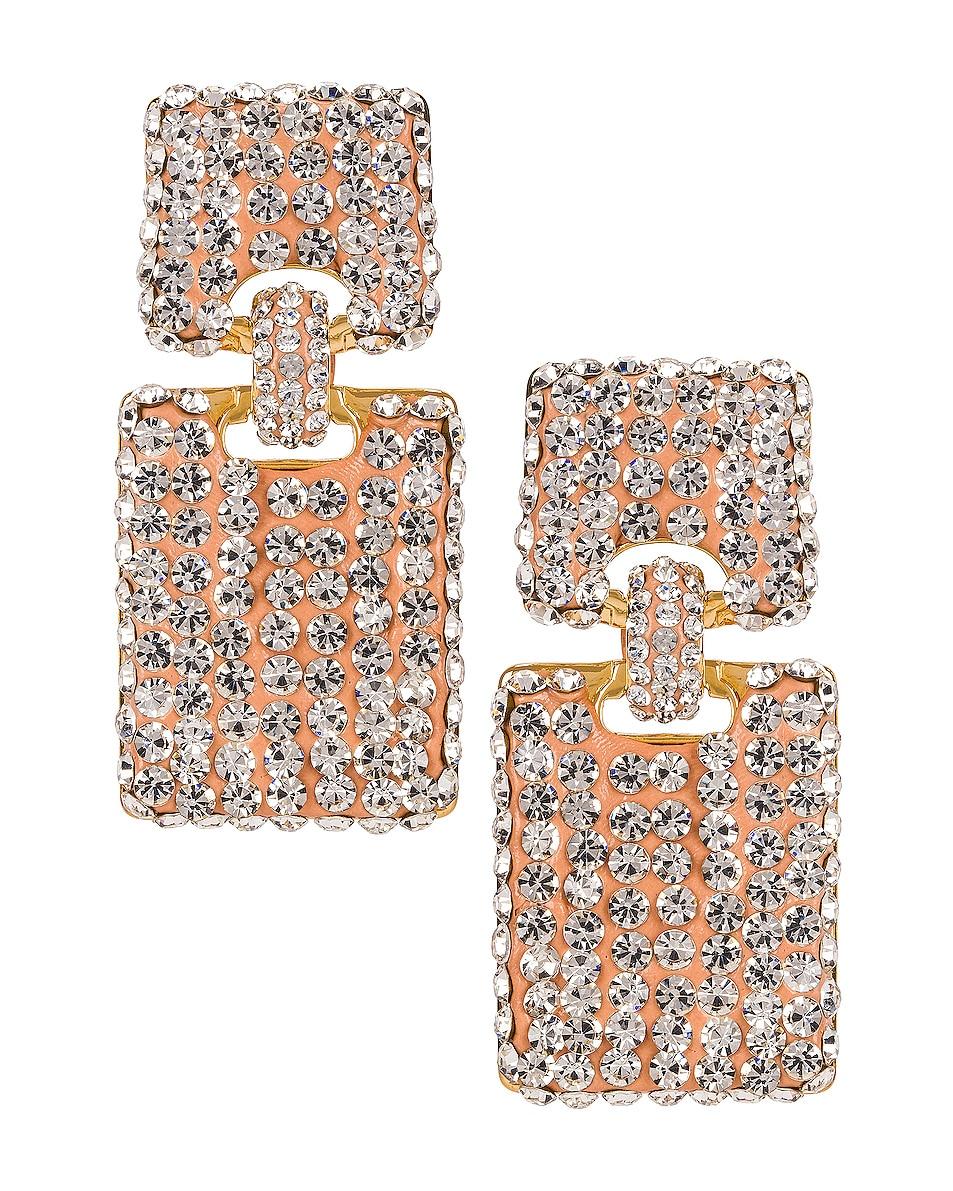 Image 1 of Lele Sadoughi Crystal Victoria Earrings in Crystal
