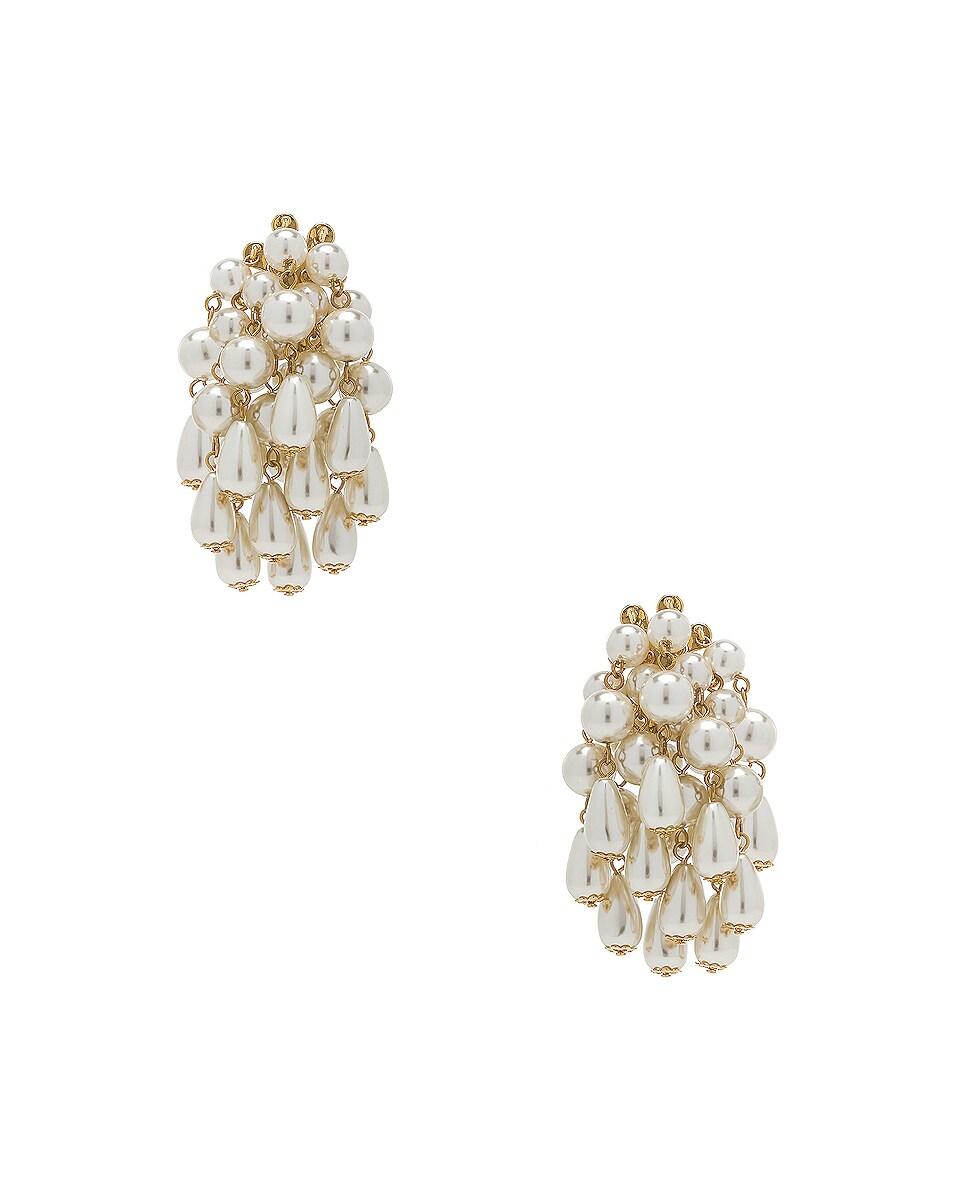 Image 1 of Lele Sadoughi Pearl Cluster Earrings in Pearl