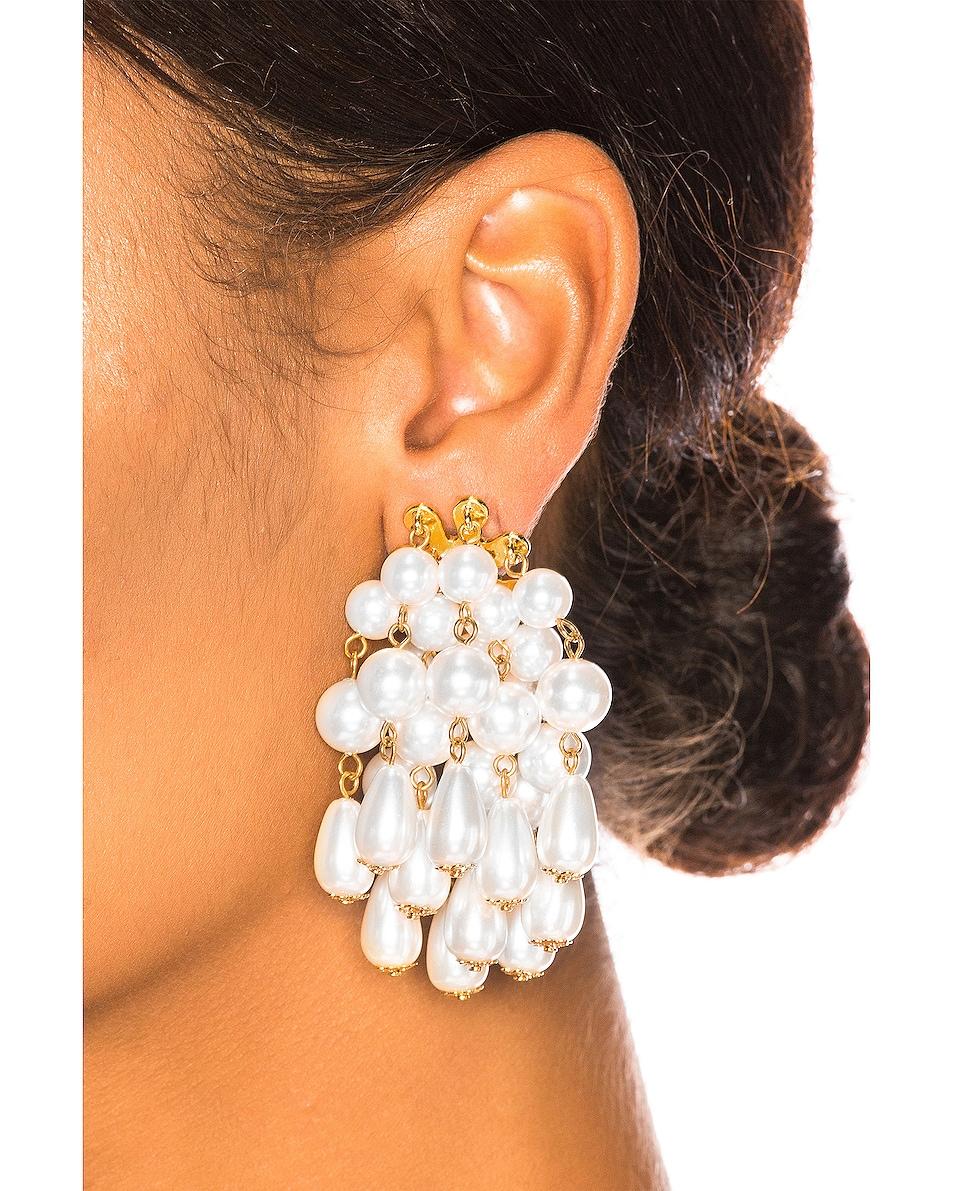 Image 2 of Lele Sadoughi Pearl Cluster Earrings in Pearl