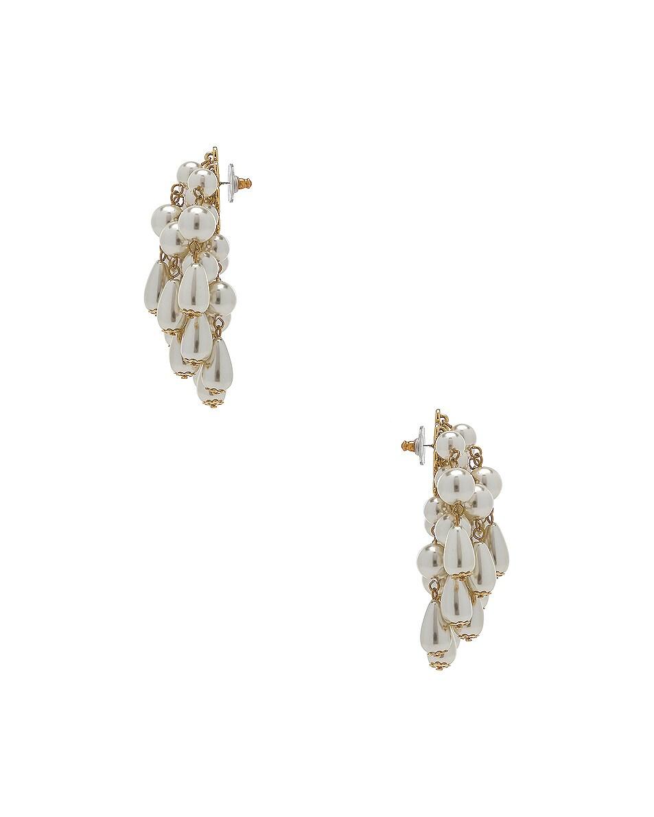 Image 3 of Lele Sadoughi Pearl Cluster Earrings in Pearl