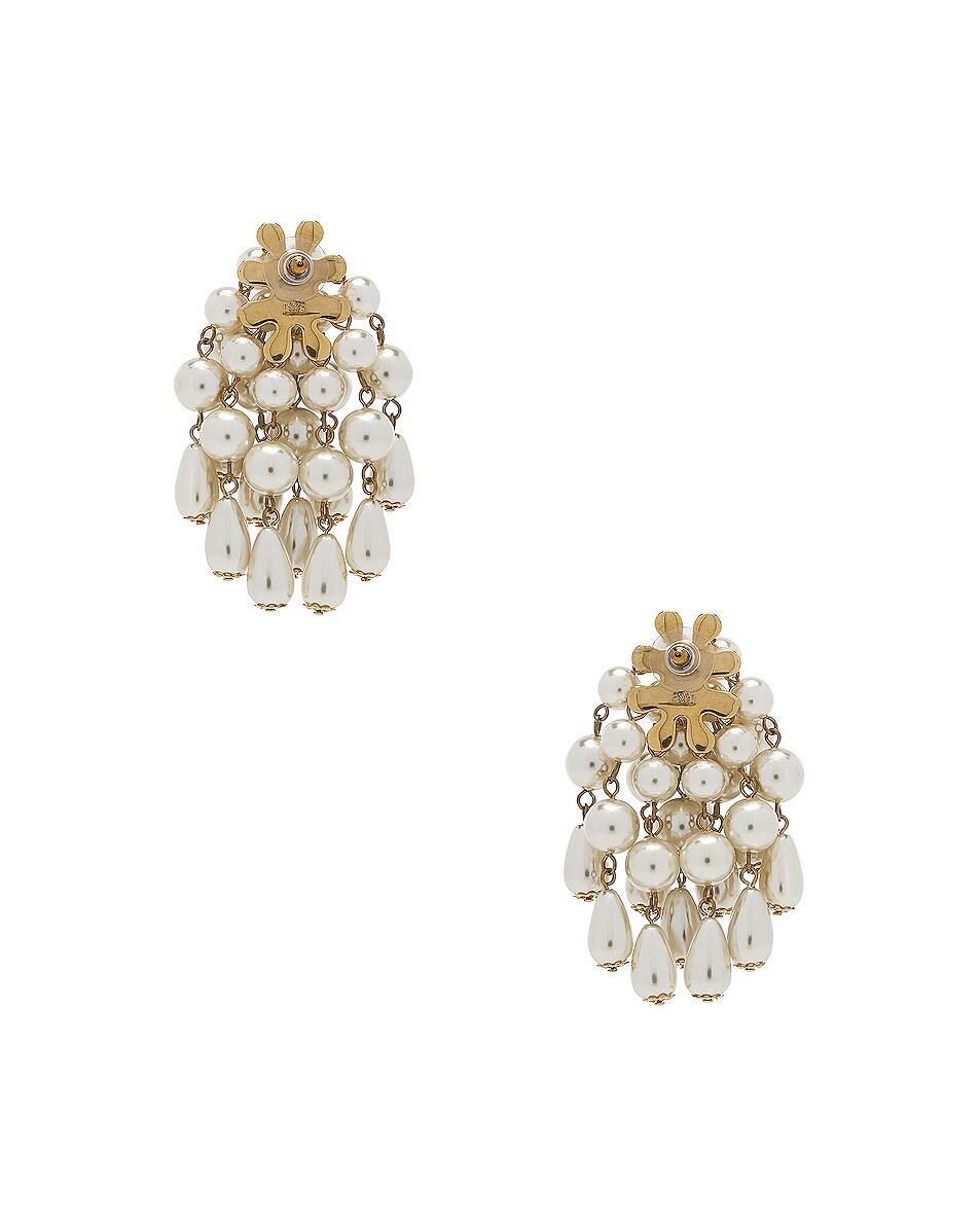 Image 4 of Lele Sadoughi Pearl Cluster Earrings in Pearl