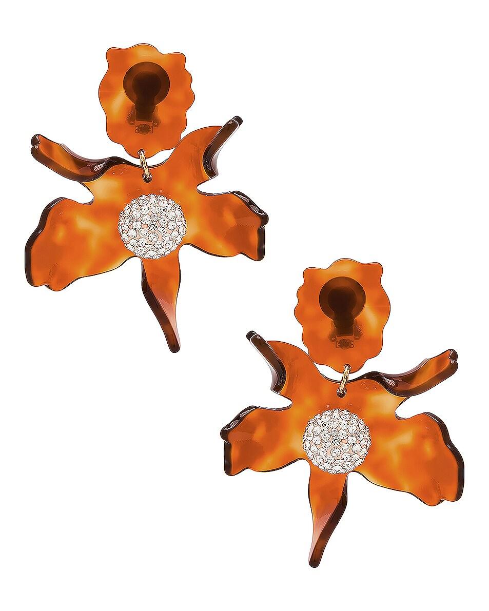 Image 1 of Lele Sadoughi Crystal Lily Earrings in Caramel