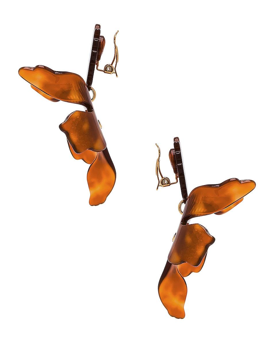 Image 3 of Lele Sadoughi Crystal Lily Earrings in Caramel