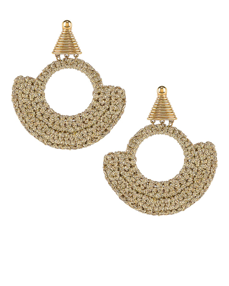 Image 1 of Lucy Folk Memphis Milano Earrings in Gold