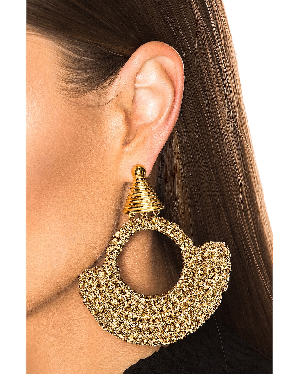 Image 2 of Lucy Folk Memphis Milano Earrings in Gold
