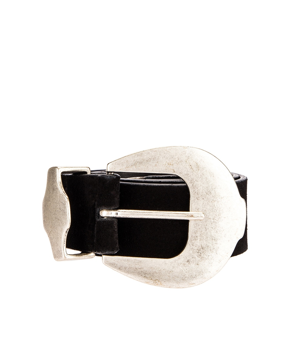 Image 1 of Magda Butrym Clint Suede Belt in Black