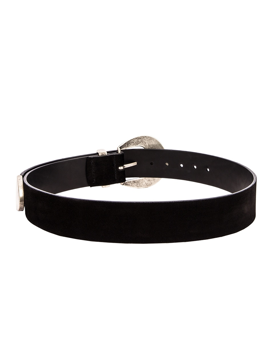 Image 3 of Magda Butrym Clint Suede Belt in Black