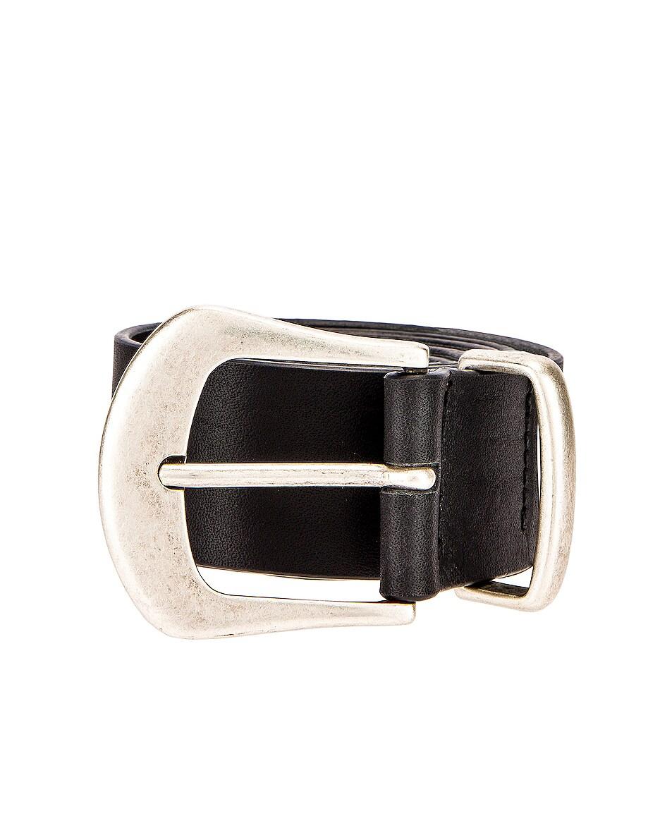 Image 1 of Magda Butrym Stone Belt in Black & Silver