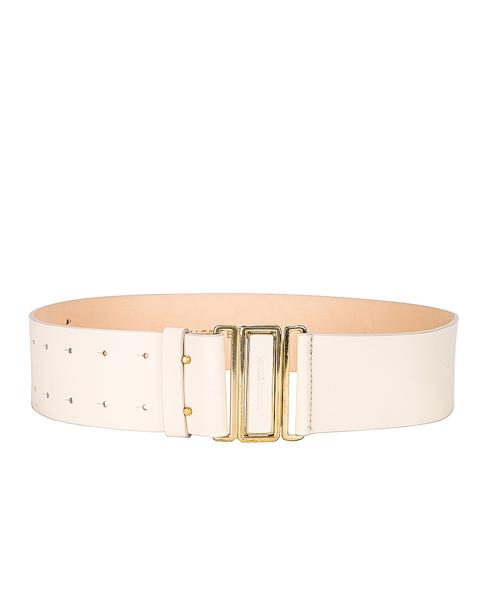 Image 1 of Magda Butrym Double Punctured Belt in Cream