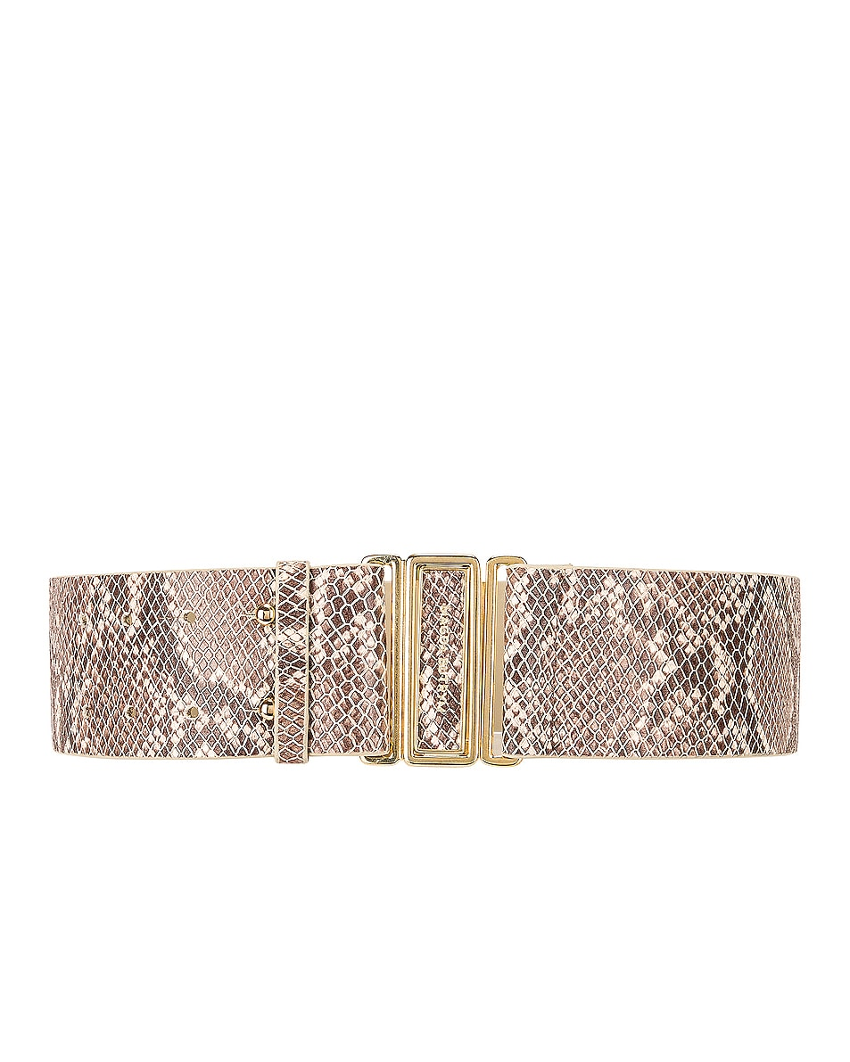 Image 1 of Magda Butrym Double Punctured Belt in Natural
