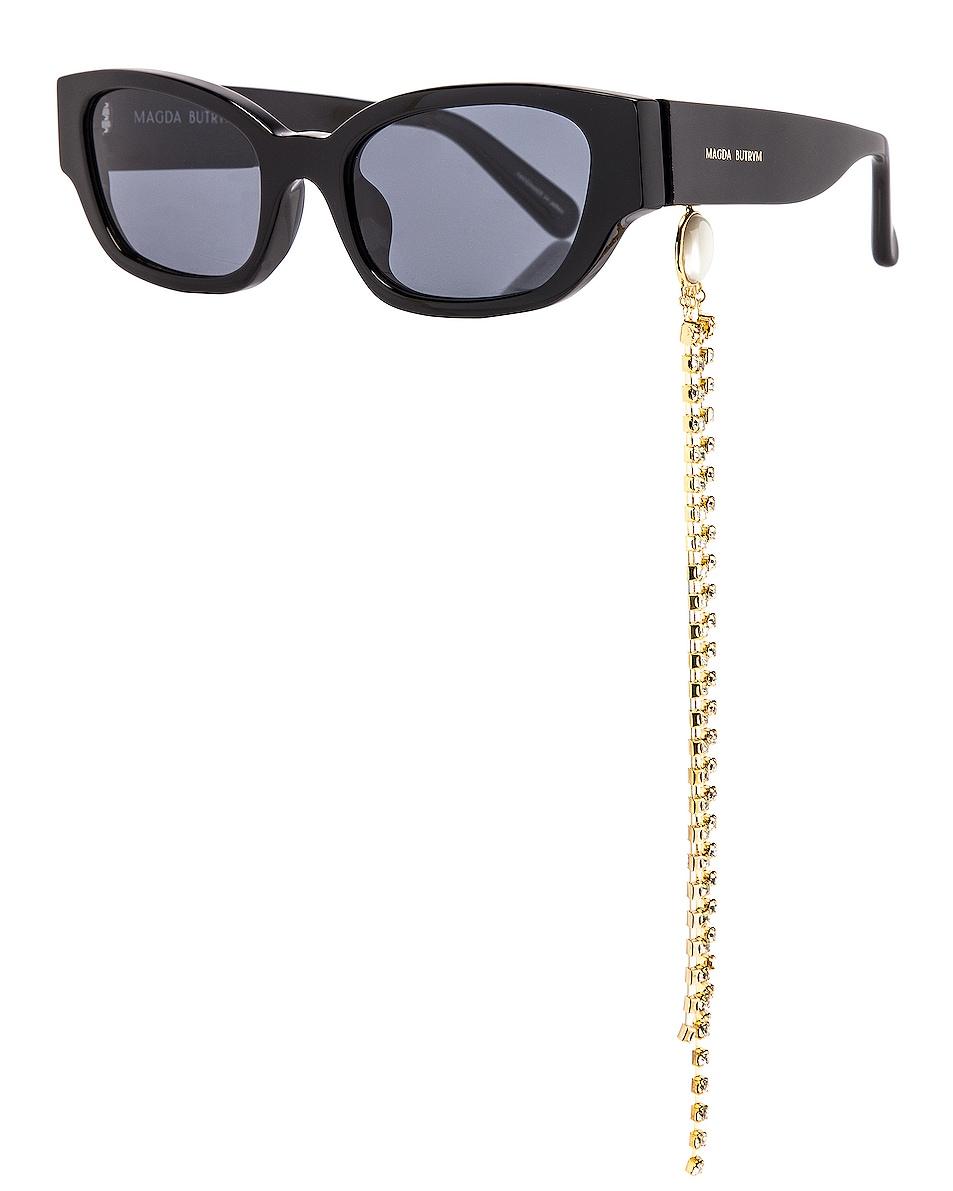 Image 1 of Magda Butrym Cat Eye Sunglasses in Black