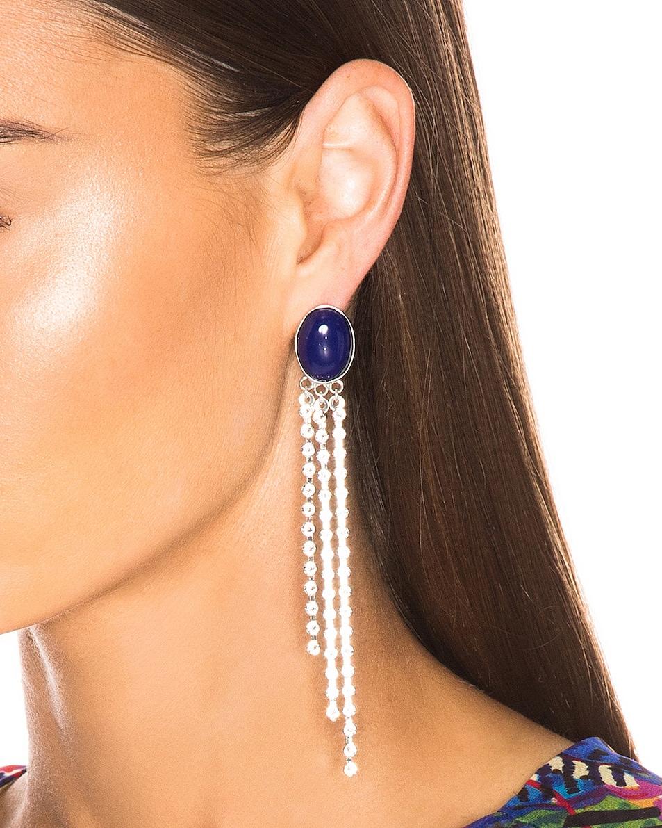 Image 2 of Magda Butrym Freesia Earrings in Navy