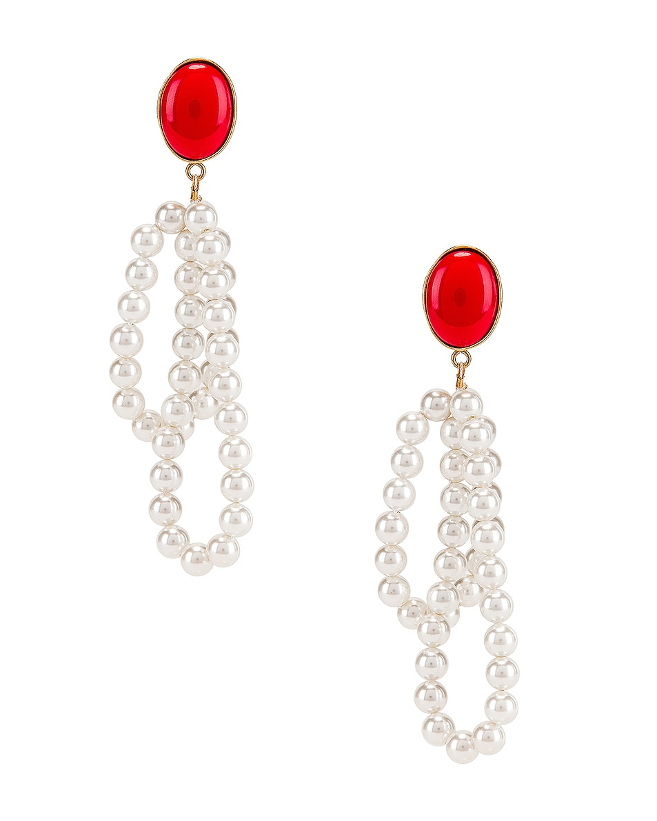 Image 1 of Magda Butrym Windflower Earrings in Red