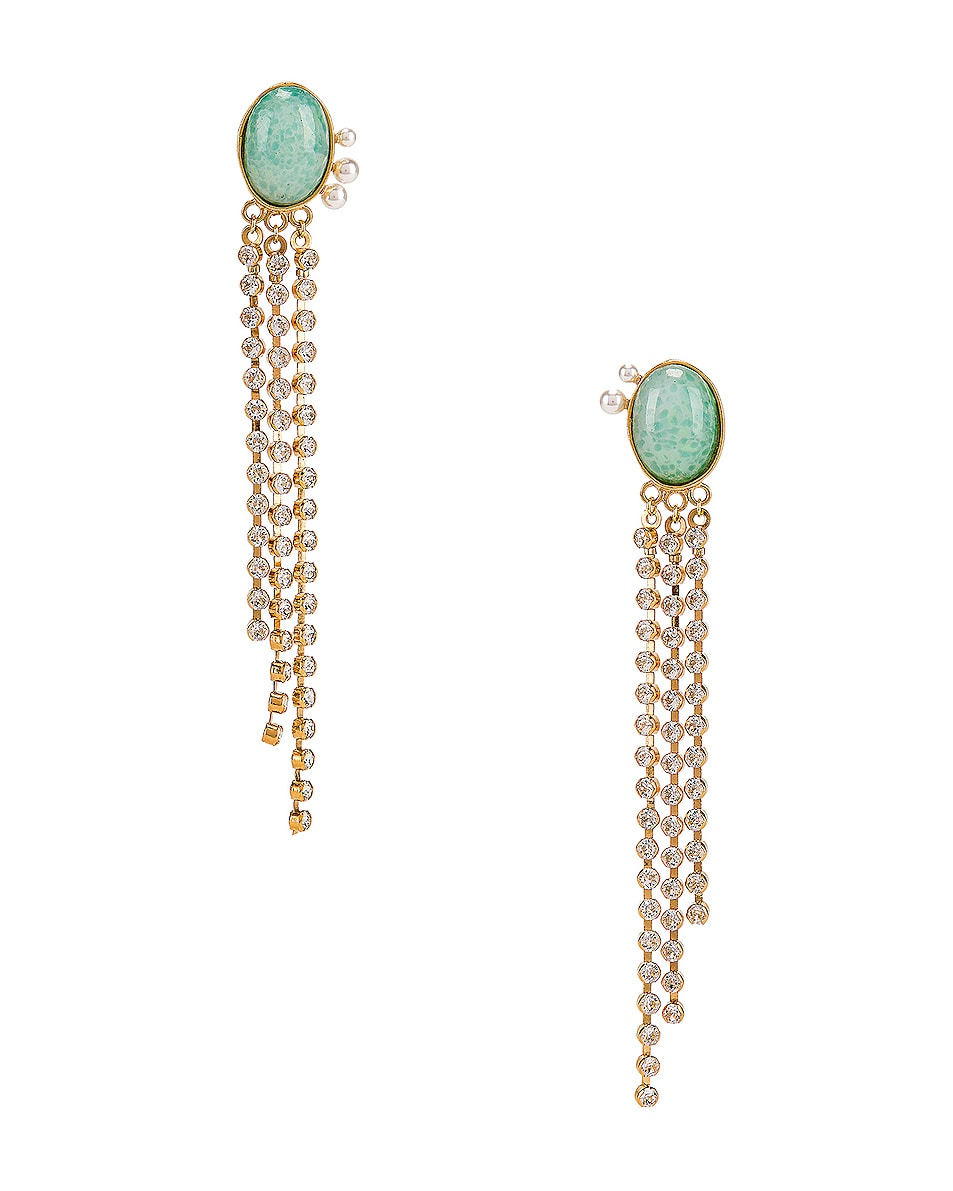 Image 1 of Magda Butrym Kiwi Earrings in Green