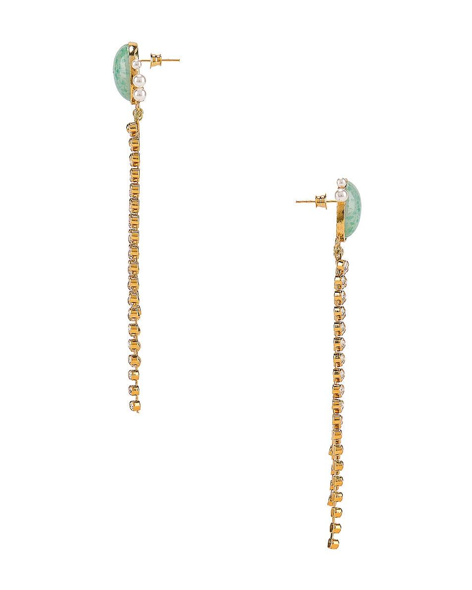 Image 3 of Magda Butrym Kiwi Earrings in Green