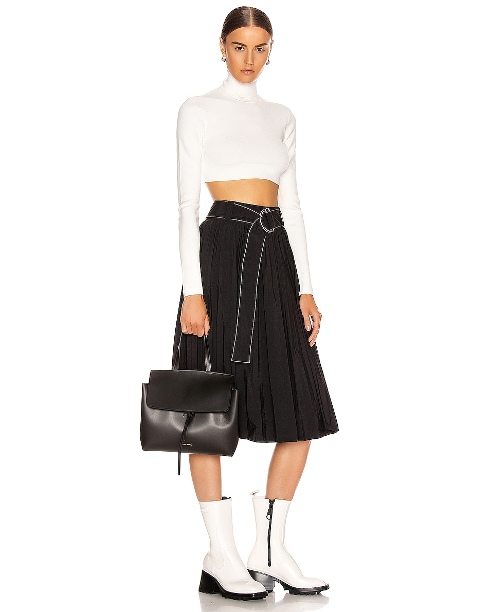 Image 2 of Mansur Gavriel Mini Lady Bag in Black & Blu Vegetable Tanned