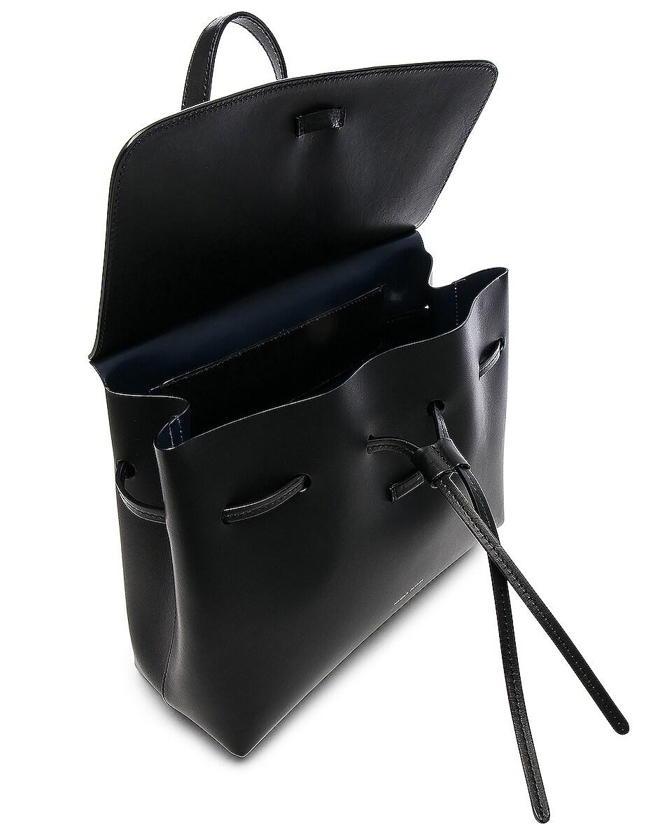 Image 5 of Mansur Gavriel Mini Lady Bag in Black & Blu Vegetable Tanned