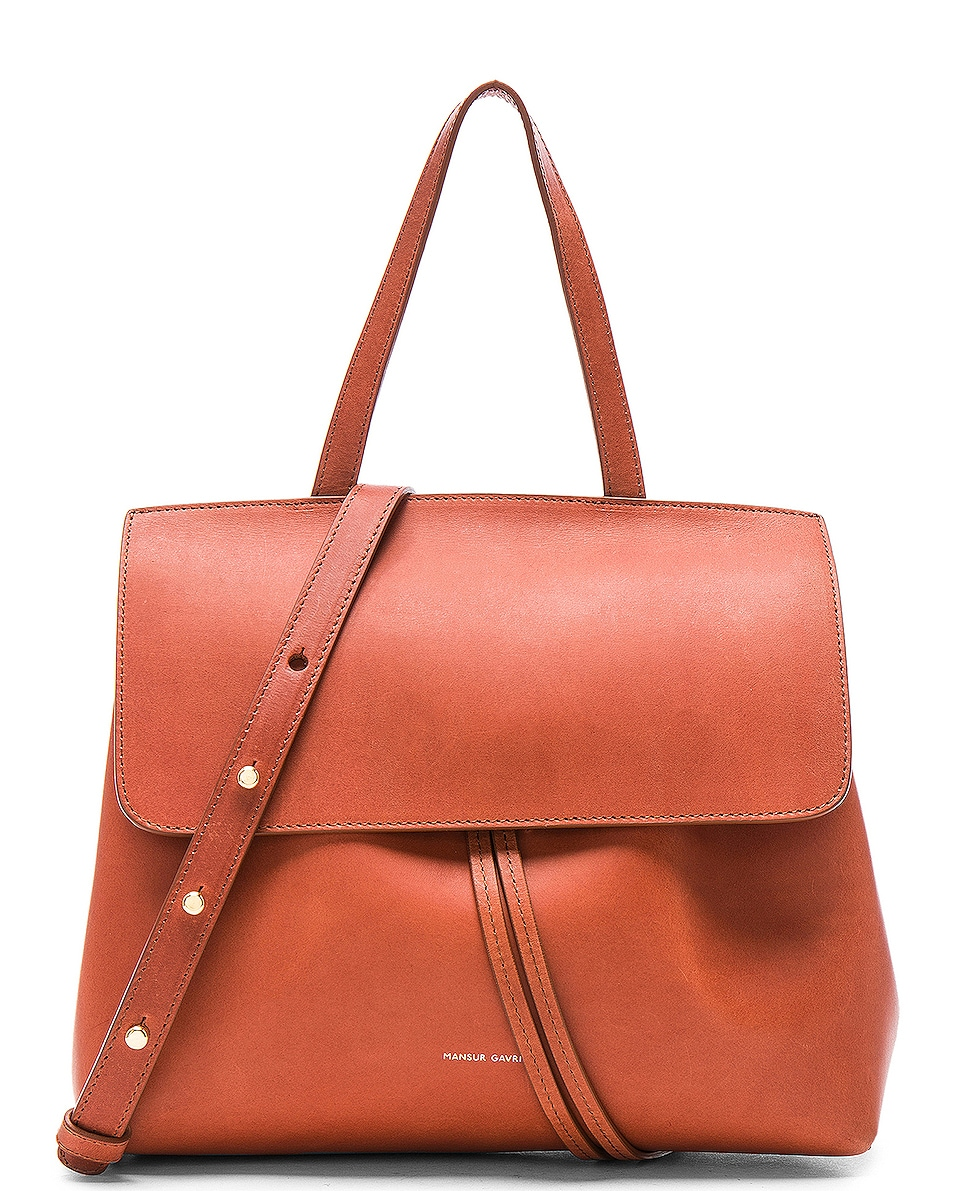 Image 1 of Mansur Gavriel Mini Lady Bag in Brandy Avion