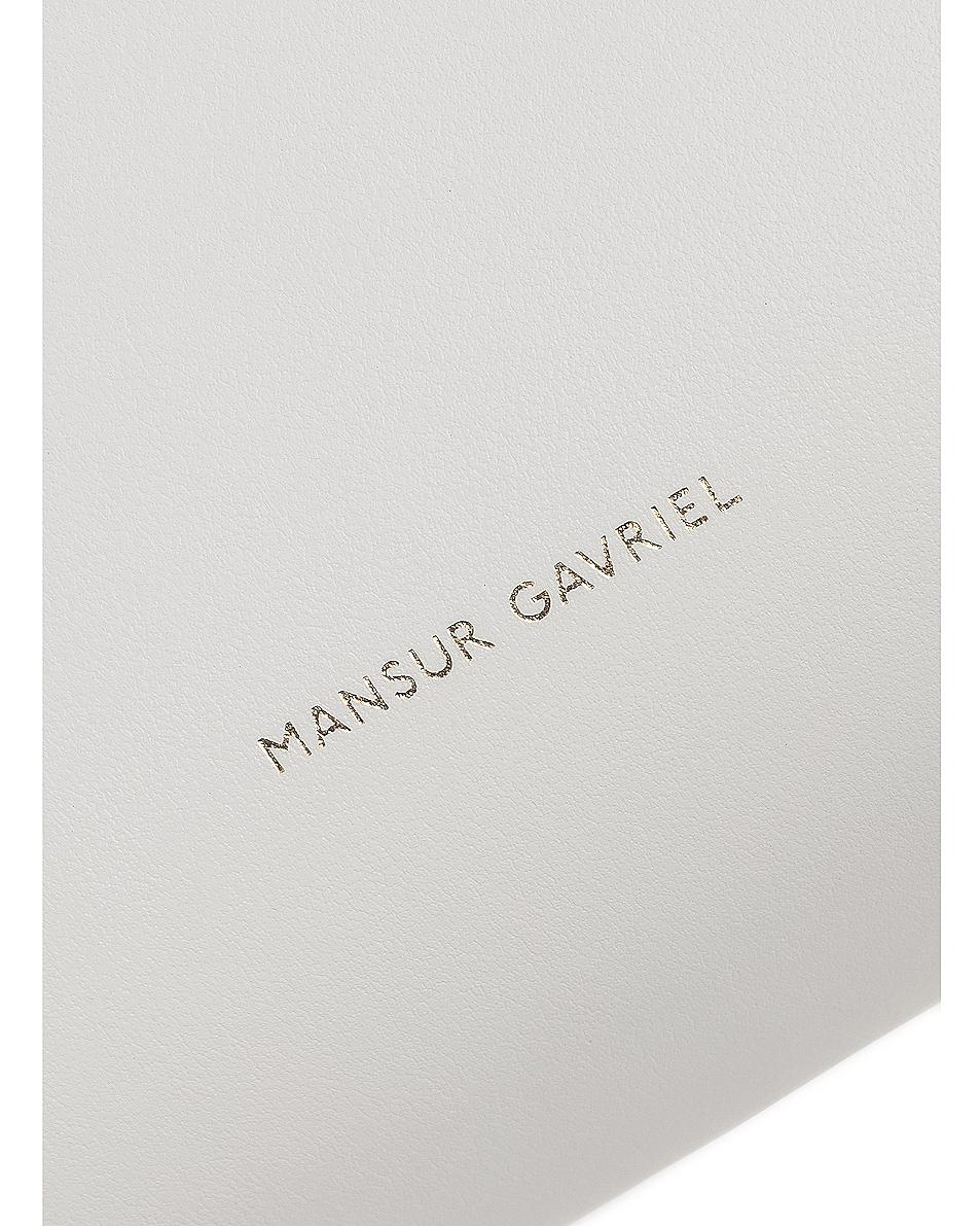 Image 7 of Mansur Gavriel Mini Bucket Bag in Blu Calf & White