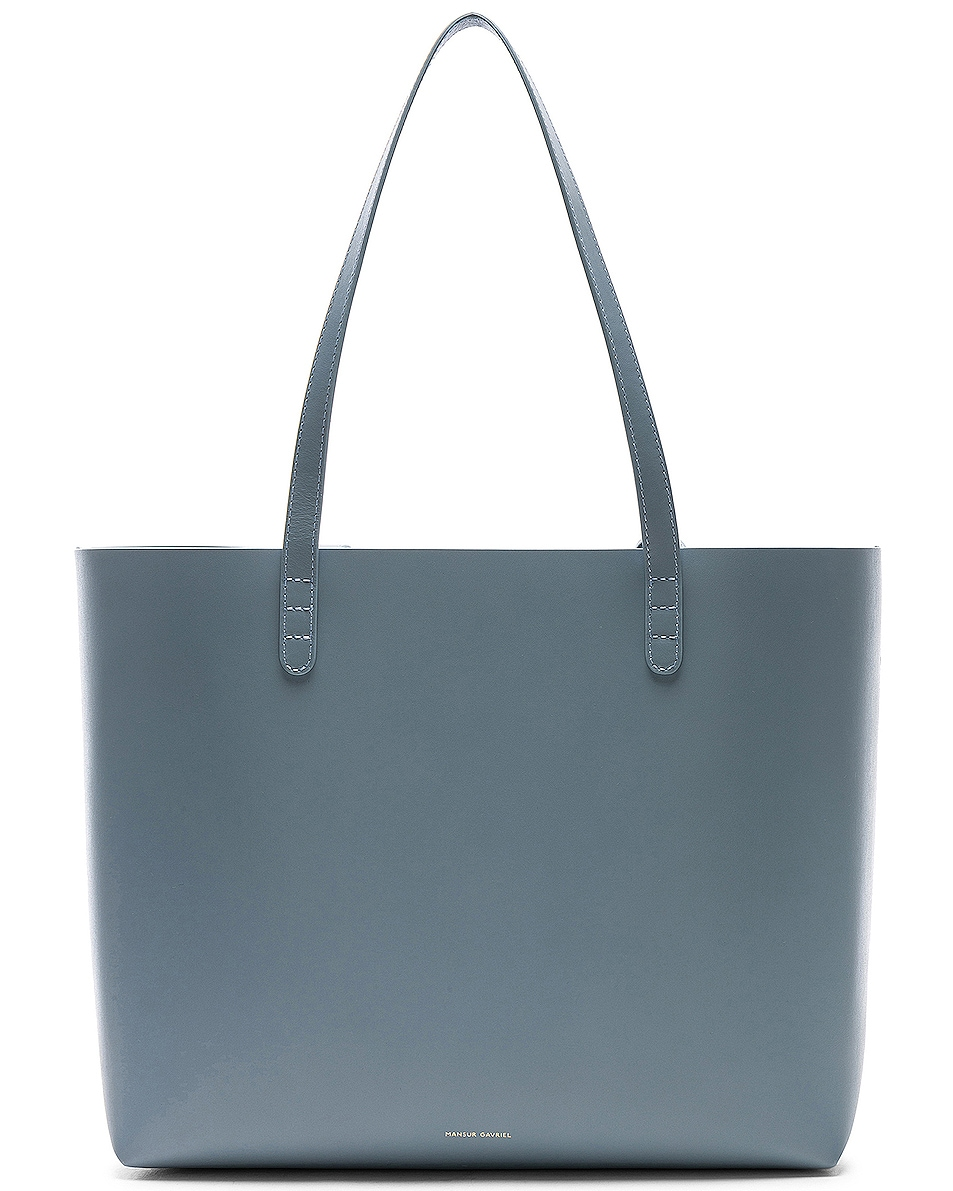 Image 1 of Mansur Gavriel Large Tote Bag in Grey Blue