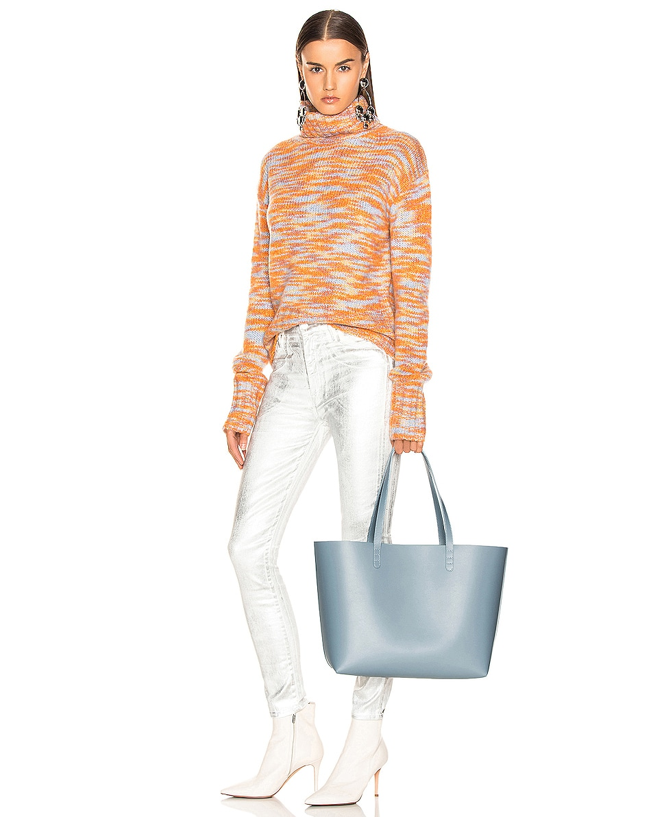 Image 2 of Mansur Gavriel Large Tote Bag in Grey Blue