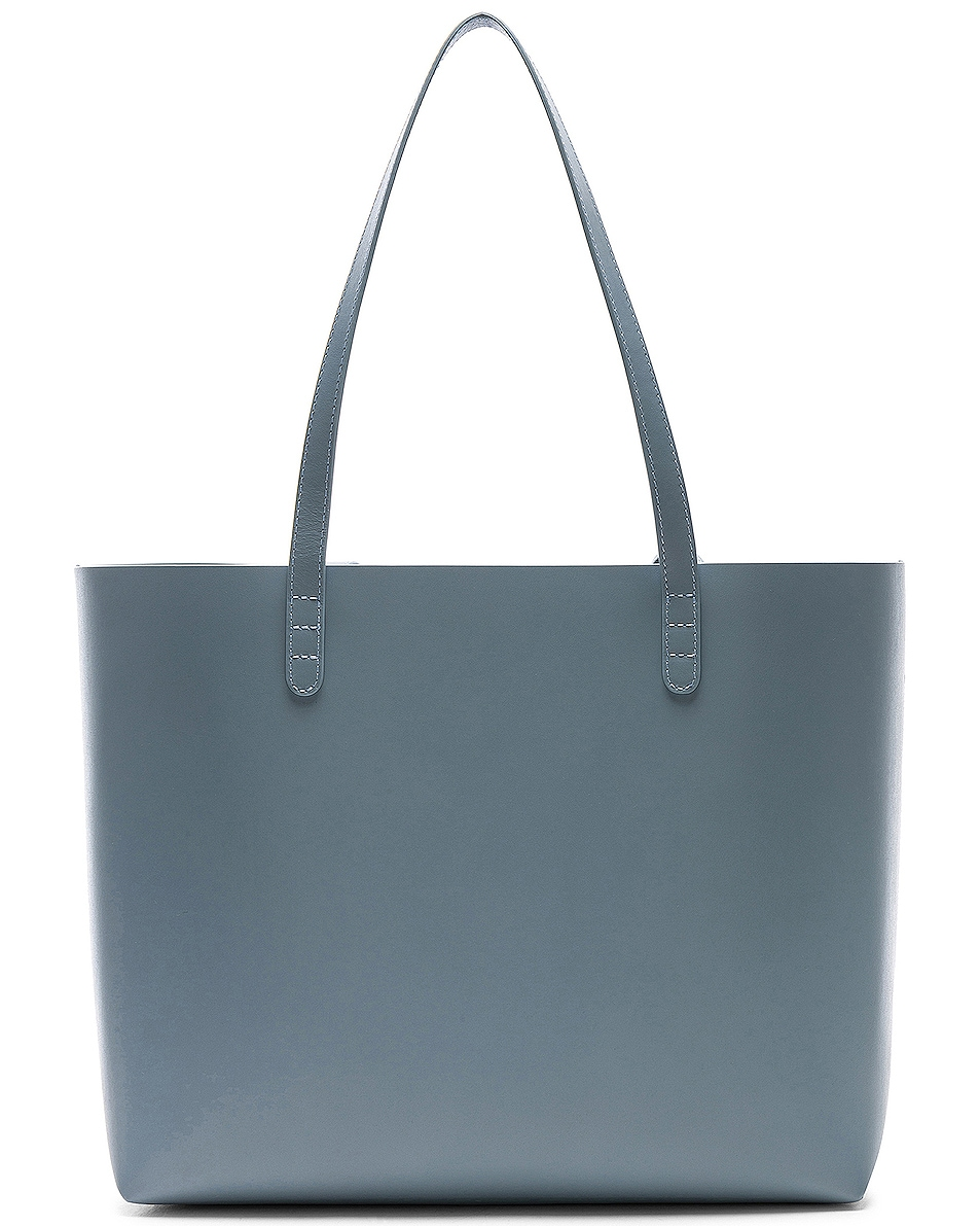 Image 3 of Mansur Gavriel Large Tote Bag in Grey Blue