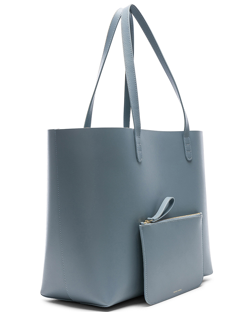 Image 4 of Mansur Gavriel Large Tote Bag in Grey Blue