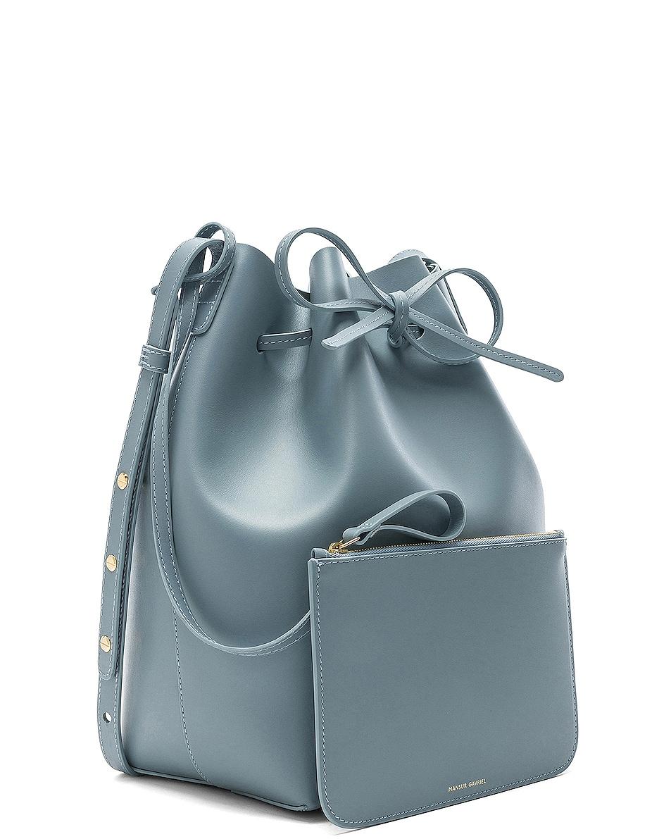 Image 4 of Mansur Gavriel Bucket Bag in Grey Blue