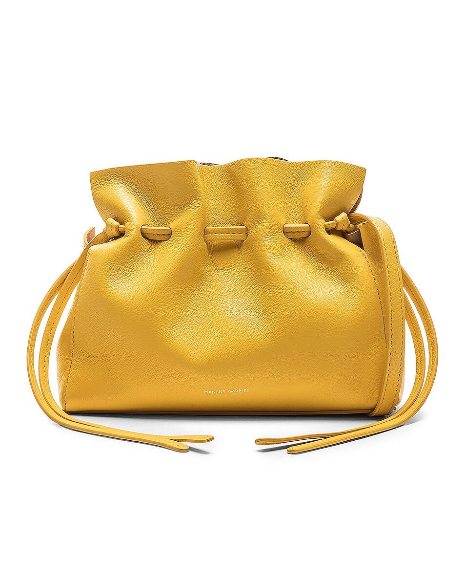 Image 1 of Mansur Gavriel Mini Protea Bag in Sun & Rosa