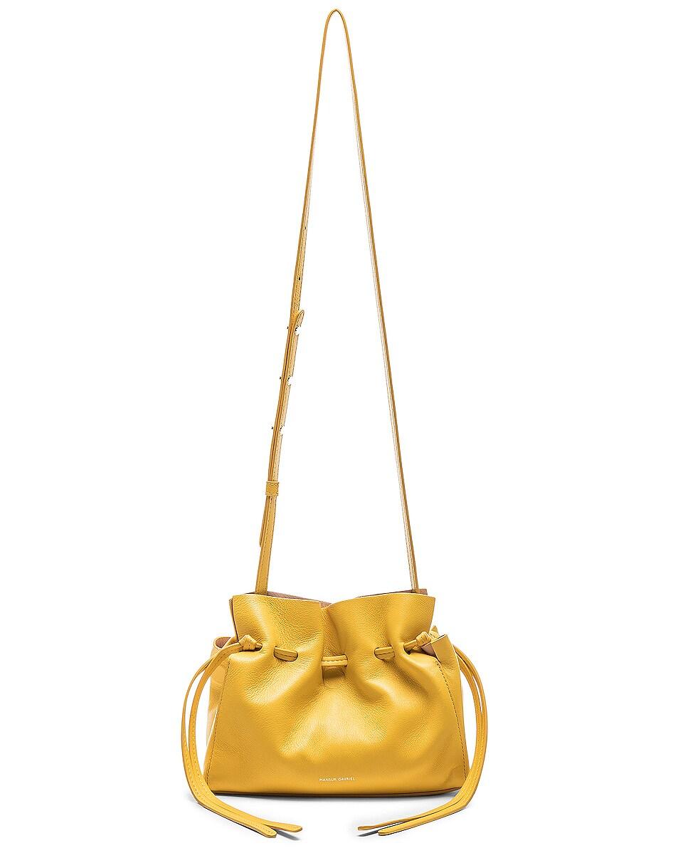 Image 6 of Mansur Gavriel Mini Protea Bag in Sun & Rosa
