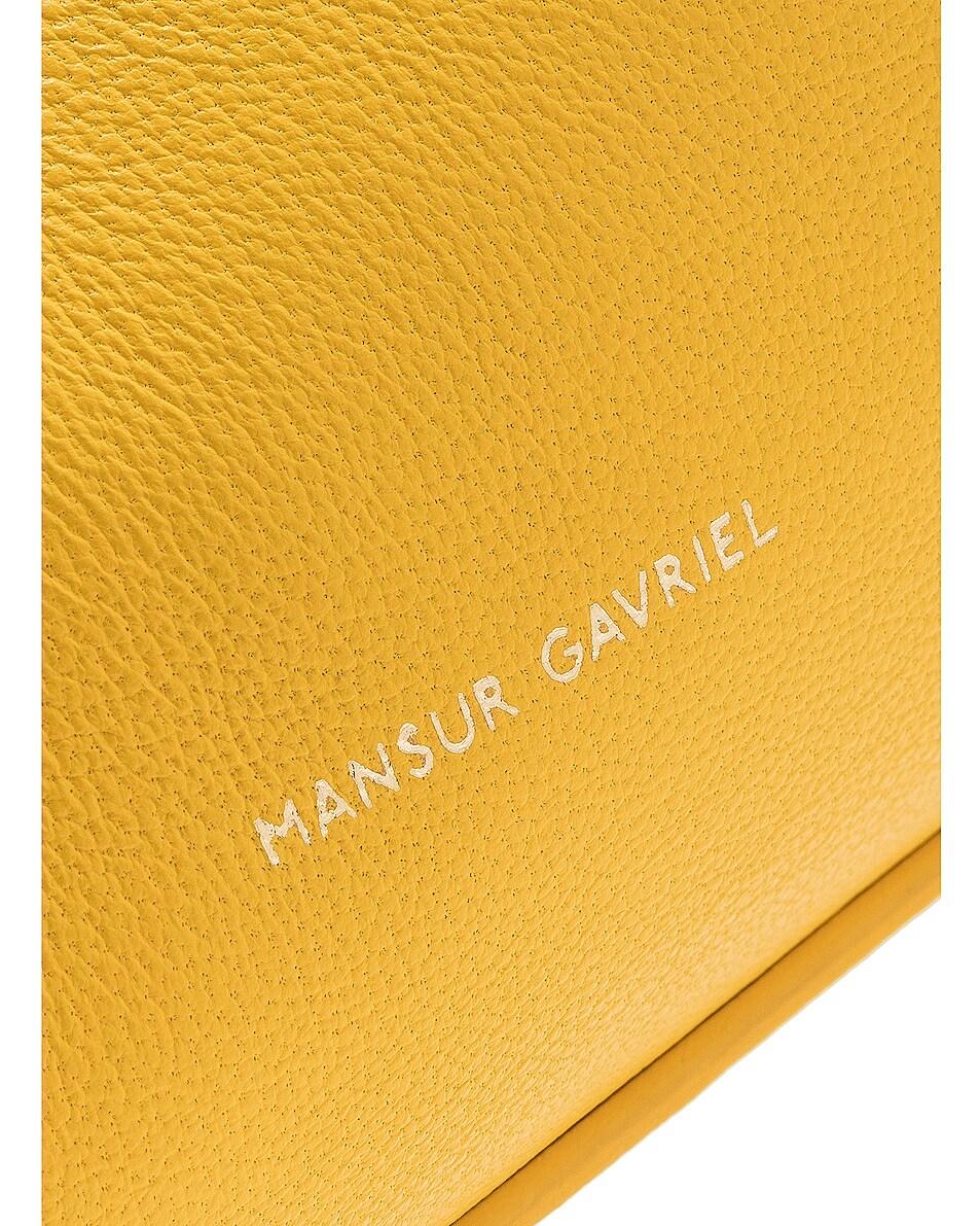 Image 7 of Mansur Gavriel Mini Protea Bag in Sun & Rosa