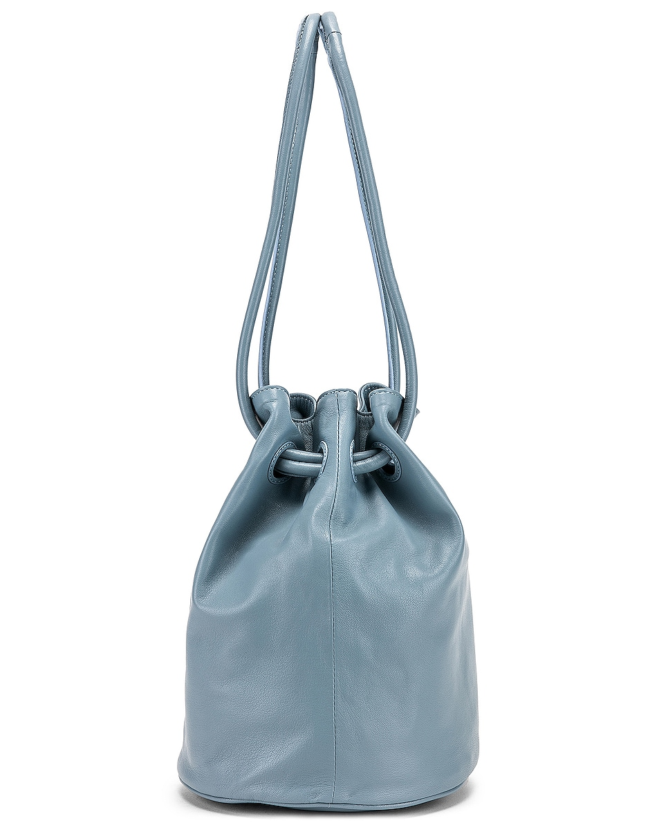 Image 3 of Mansur Gavriel Drawstring Pouch in Grey Blue