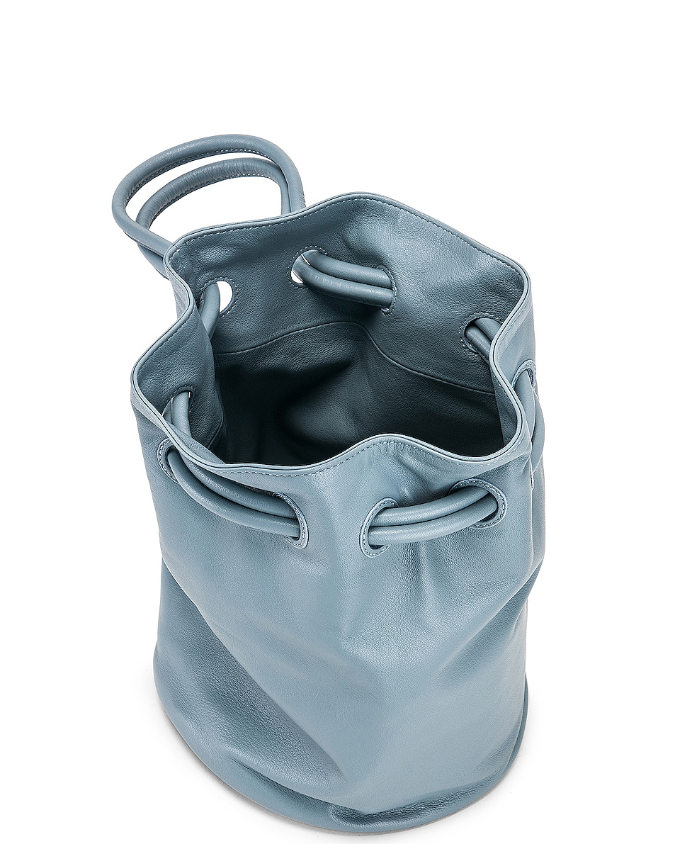 Image 5 of Mansur Gavriel Drawstring Pouch in Grey Blue