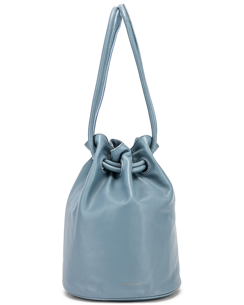 Image 6 of Mansur Gavriel Drawstring Pouch in Grey Blue