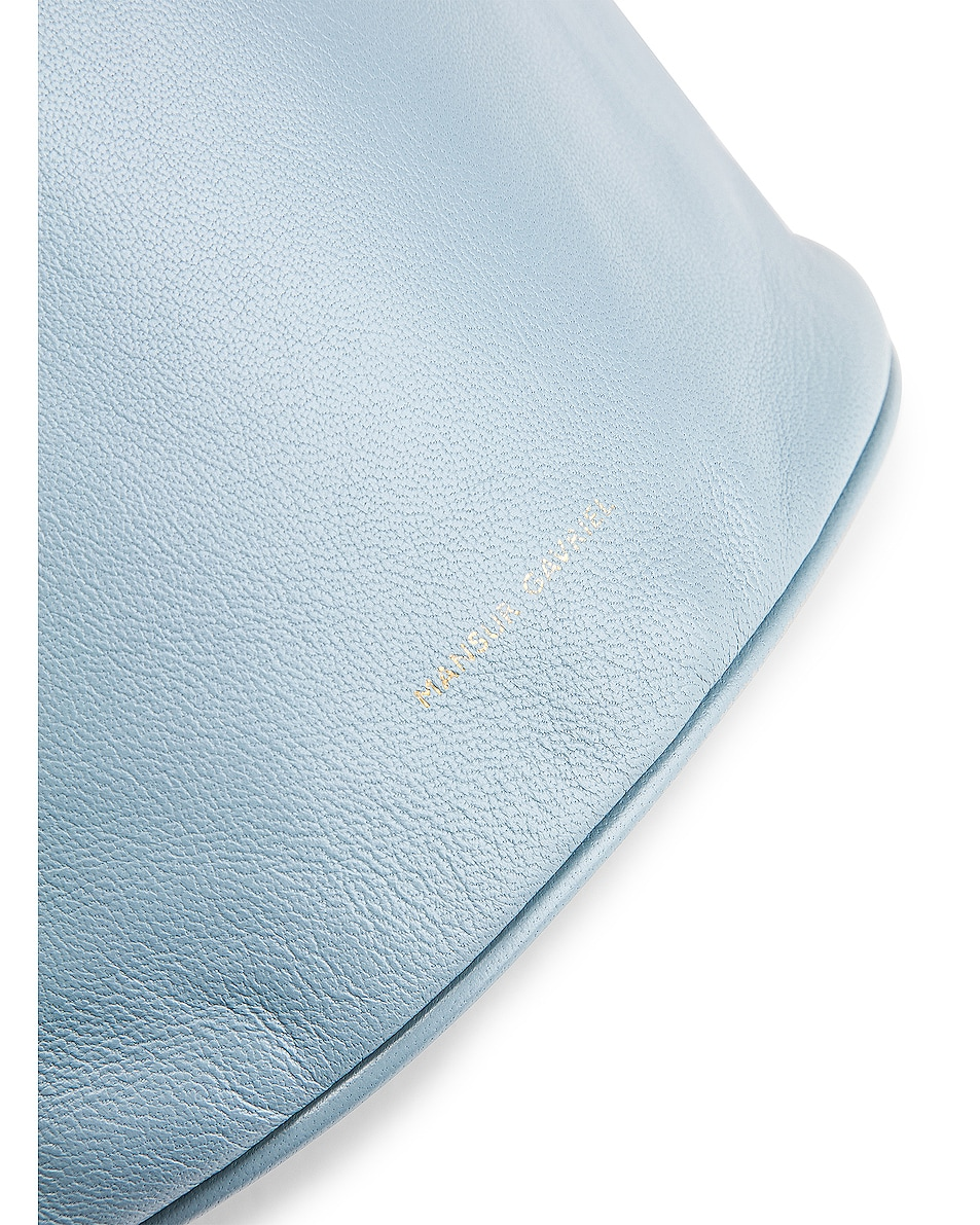 Image 7 of Mansur Gavriel Drawstring Pouch in Grey Blue