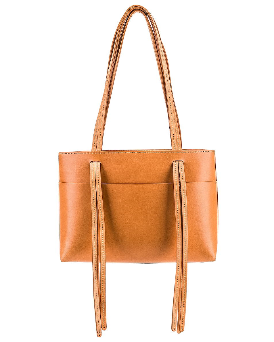 Image 3 of Mansur Gavriel Mini Fringe Bag in Cammello & Rosa
