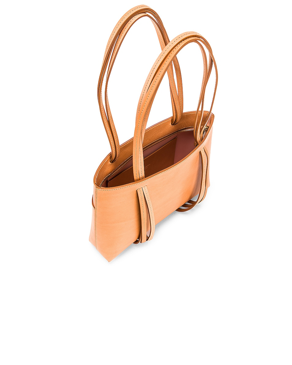 Image 5 of Mansur Gavriel Mini Fringe Bag in Cammello & Rosa