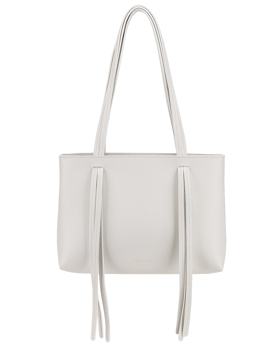 Image 1 of Mansur Gavriel Mini Fringe Bag in White