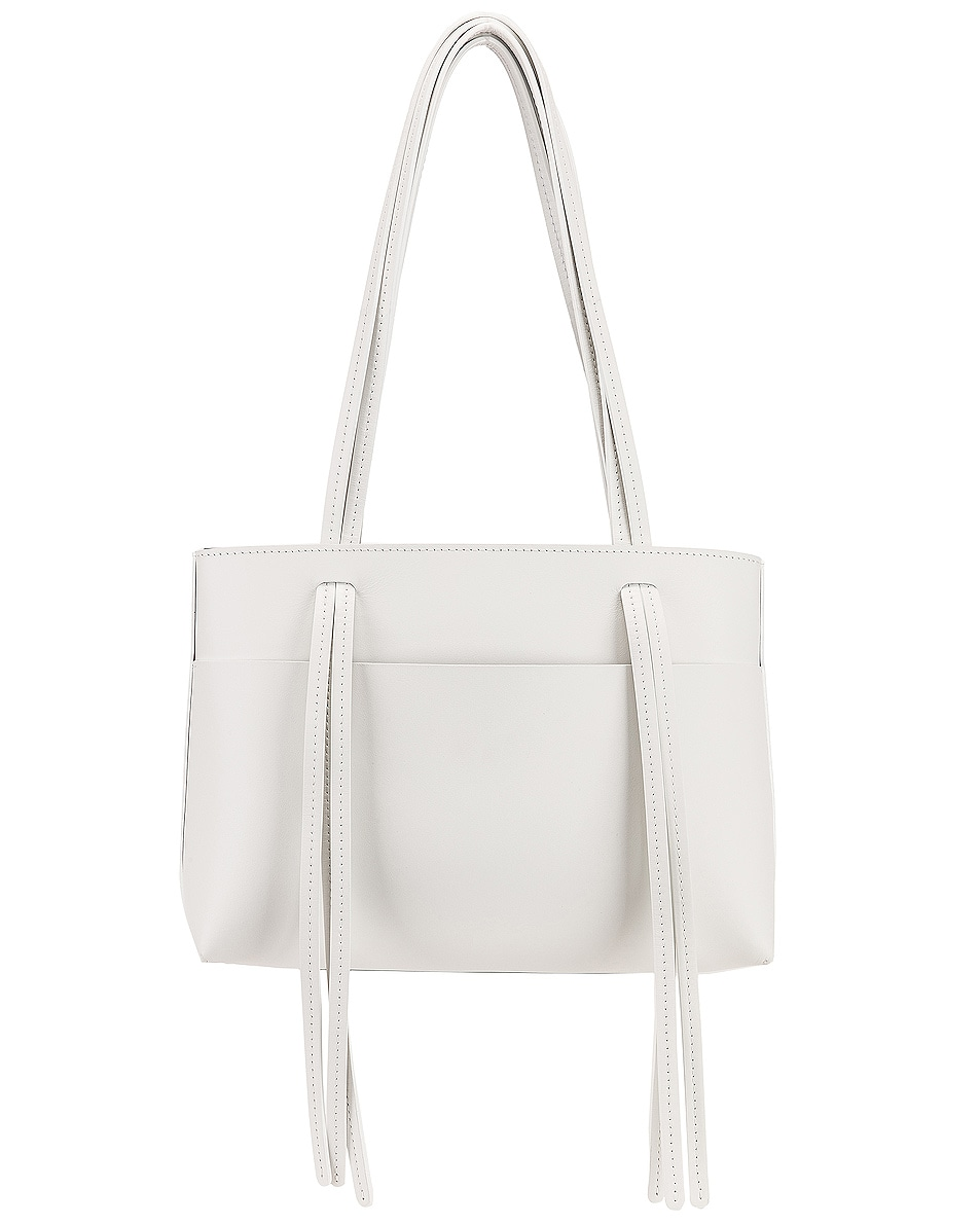 Image 3 of Mansur Gavriel Mini Fringe Bag in White