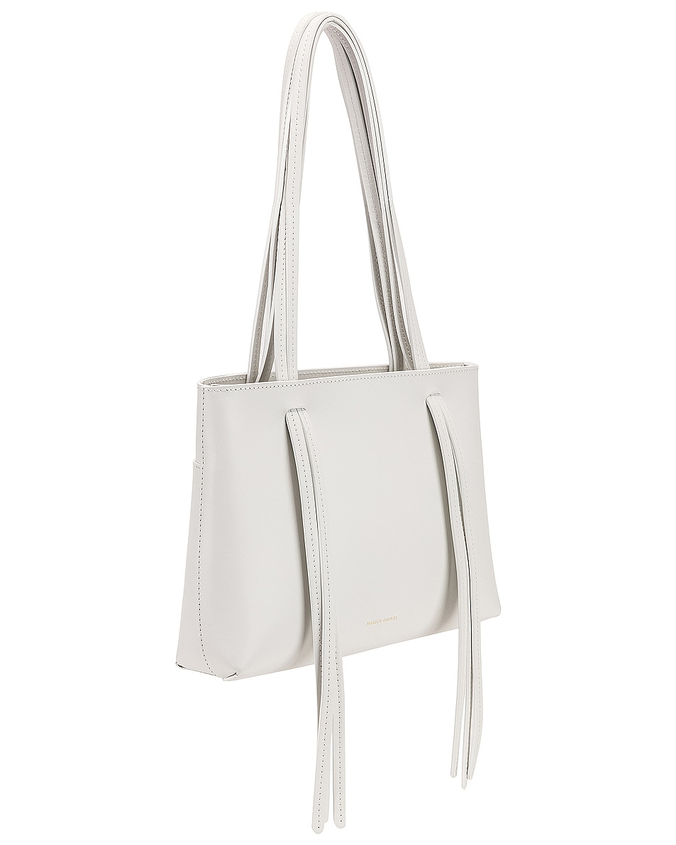 Image 4 of Mansur Gavriel Mini Fringe Bag in White