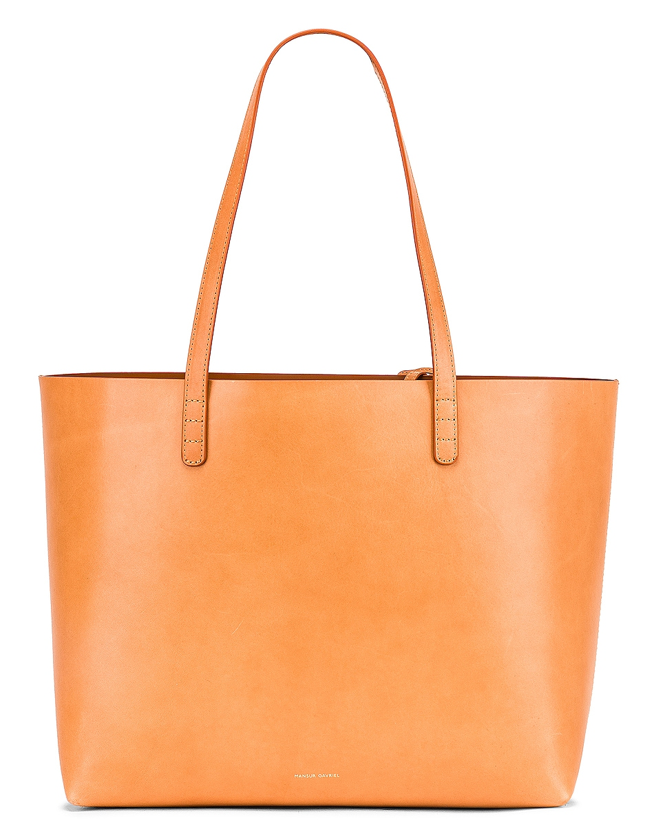 Image 1 of Mansur Gavriel Large Tote in Cammello & Cotto