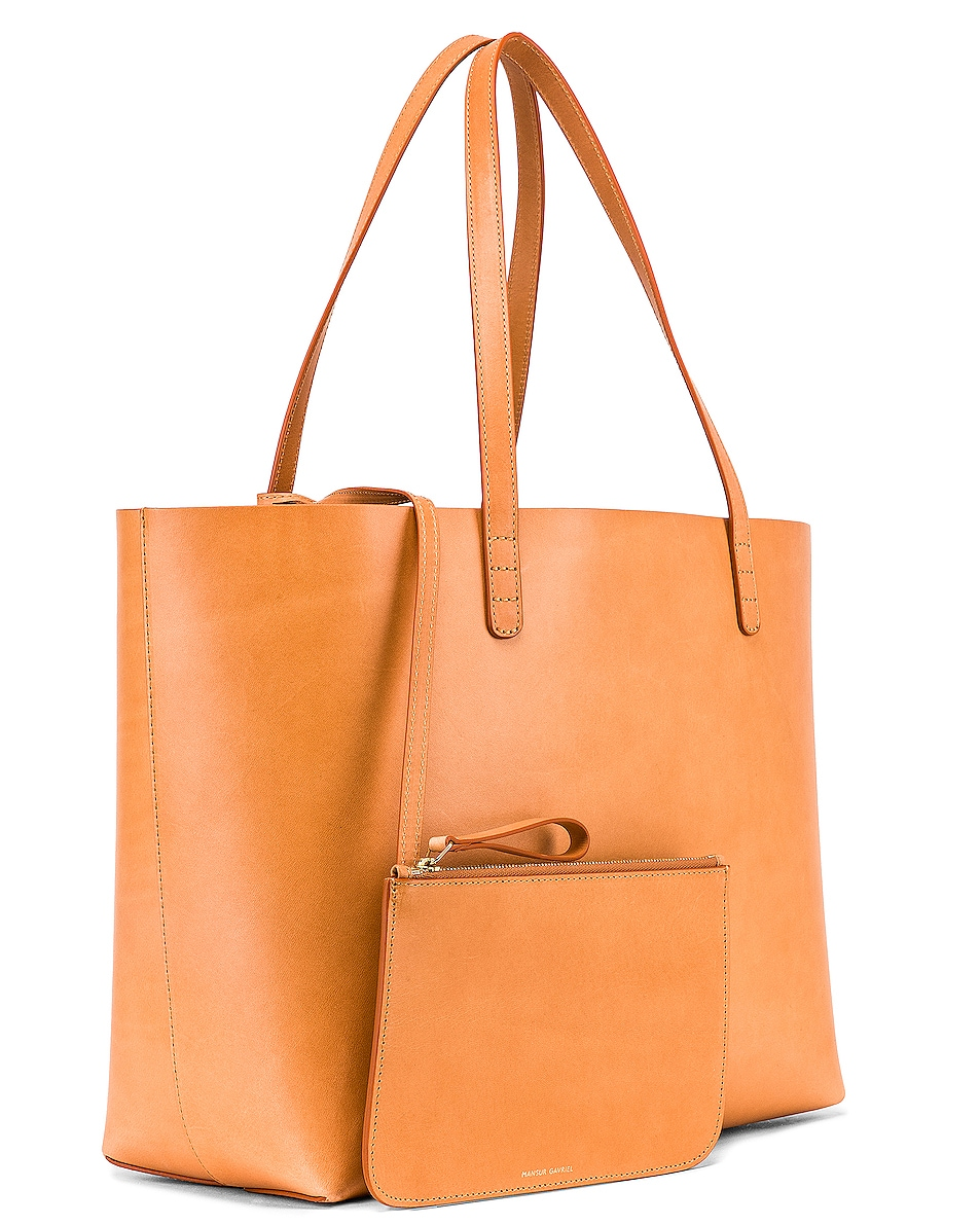 Image 4 of Mansur Gavriel Large Tote in Cammello & Cotto