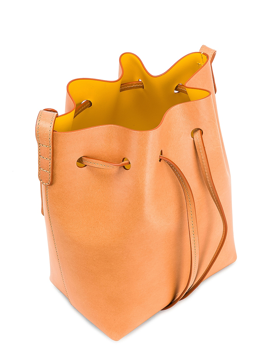 Image 5 of Mansur Gavriel Mini Bucket in Cammello & Sun