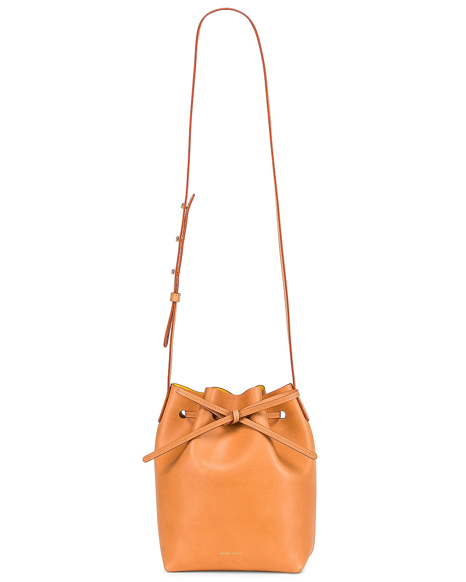 Image 6 of Mansur Gavriel Mini Bucket in Cammello & Sun