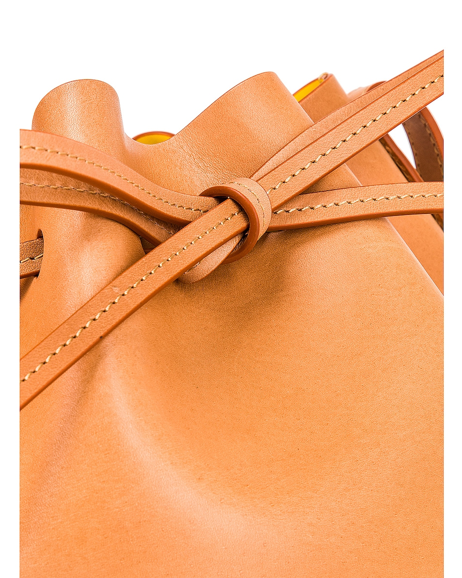 Image 8 of Mansur Gavriel Mini Bucket in Cammello & Sun
